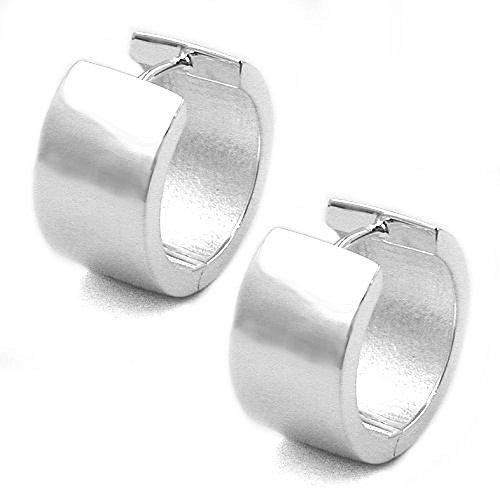 Schmuck Ohrschmuck Silber Ohrringe Silber 925 Creolen für Damen 18 x 10 mm glänzend mit Steckverschluss inklusive Schmuckbox