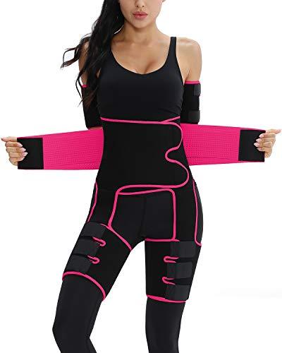 Elastic Arm And Thigh Waist Trainer Butt Lifter Waist Trainer For Women Fitness Shapewear(Rose,4XL/5XL)