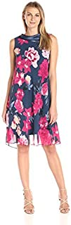 S.L. Fashions Women's Sleeveless Short Roll Collar Dress