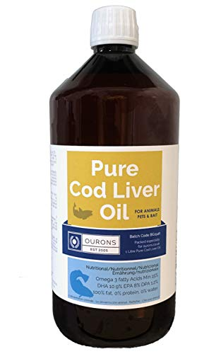 OURONS 1 litro de Aceite de hígado de Bacalao Puro Líquido 100%...