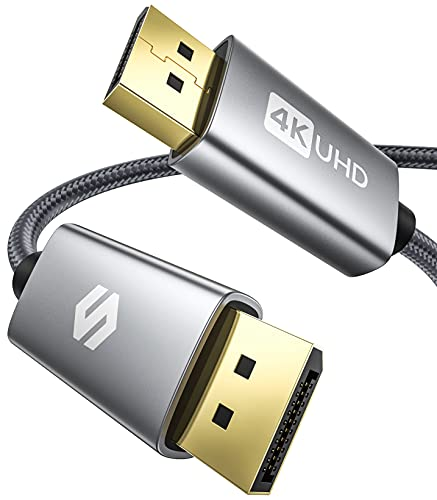 DisplayPort Kabel 1M/144Hz, Unterstützung 4K@60Hz, 2K@144Hz, 2K@165Hz, 1080@240Hz, 3D, Kompatibel mit FreeSync und G-Sync, Silkland DP Kabel für 144Hz-Gaming-Monitor, TV, PC, Grafikkarte