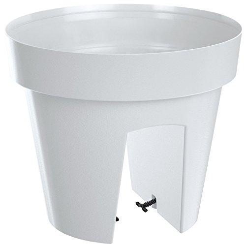 Deuba Geländerkasten Balkonkasten Blumentopf | Weiß | 5 Liter | Frostbeständig | UV-Beständig | 2 getrennte Pflanzkammern
