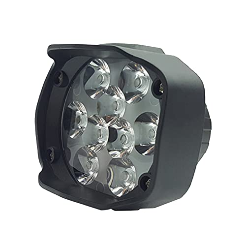 mlloaayo Faro de Motocicleta, 9 LED 6W DC12V Luz de Trabajo Blanca con Punto de Niebla súper Brillante, Foco Externo Impermeable, para Motocicletas Bicicletas eléctricas