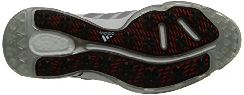 Adidas Men's Adipower Boost Golf Shoe, Running White/Silver Metallic/Running White, 10 M US