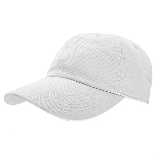 Gelante Baseball Caps Dad Hats 100% Cotton Polo Style Plain Blank Adjustable Size. 1805-White