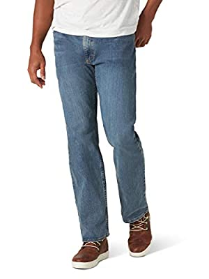 Wrangler Authentics Men's Regular Fit Comfort Flex Waist Jean, Slate, 42W x 30L
