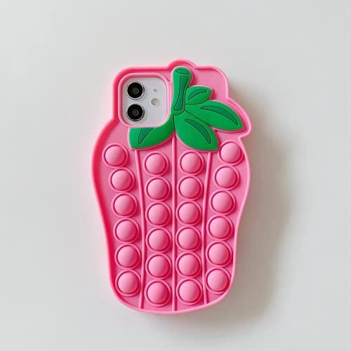 ZUJIFA Relájese la Caja del teléfono de la Fruta de Juguete, Que se suministra a la Funda de Silicona Suave de Choque de Dibujos Animados