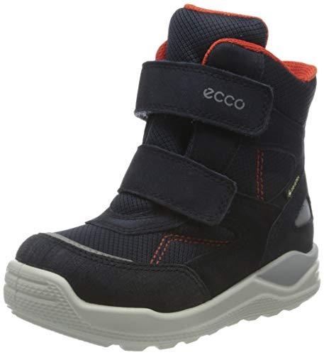 ECCO Baby-Jungen Urban Mini Nightsky Snow Boot, Blau (Night Sky/Night Sky/Scarlet), 25 EU
