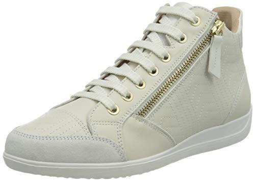 Geox D Myria B, Zapatillas Altas Mujer, blanco crudo, 39 EU