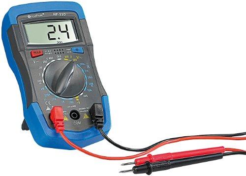 """Digitales Multimeter\""""HP-33D\"""" mit Data-Hold, Stoßschutz und Messkabeln"""