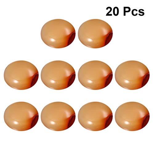 EXCEART 20 Piezas Cúpula Cabujones de Ágata Natural Adornos de Espalda Plana Piedras Preciosas para La Fabricación de Joyas Artesanales de Bricolaje 20 Mm