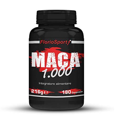 FlorioSport, Maca 1000, 180 cpr. da 1000 mg di estratto secco 4:1. Azione Tonica
