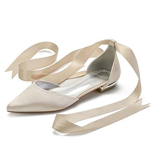 Gycdwjh Zapatos de Novia para Mujer, Moda Verano Zapatos de Boda Tacón...