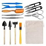 13 piezas de herramientas para plantas suculentas mini herramientas de mano para plantar jardines con bolsillo de almacenamiento herramientas para bonsái principiantes kit de herramientas trasplantes