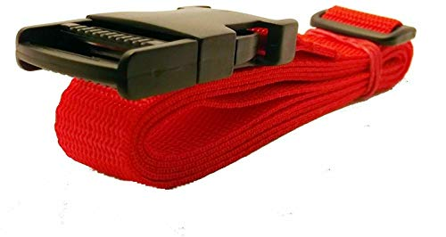 Side Release Strap 2 x 1.5 metre x 50mm Luggage Suitcase Tie Down (Red)