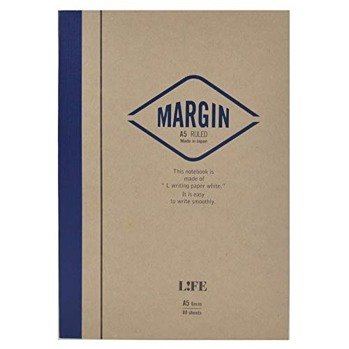 Japanese Notebook, Exceptional Paper, Great for Fountain Pens, A5, Blue, Lined