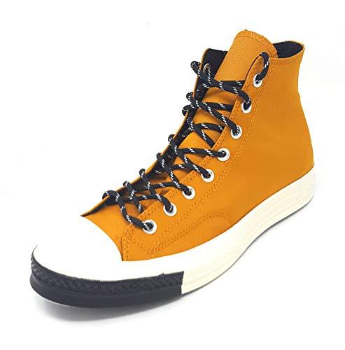 Converse Herren Taylor Chuck 70 Hi Sneakers, Mehrfarbig (Turmeric Gold/Black/Egret 702), 42.5 EU
