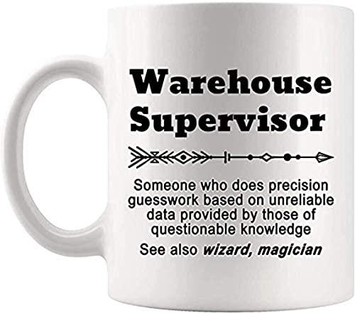 NA Definición Supervisor de almacén Taza de Significado Presente Taza de café de 11 oz Gag Presente para Hombres Mujeres Camiseta Tazas Tazas NCH6H6