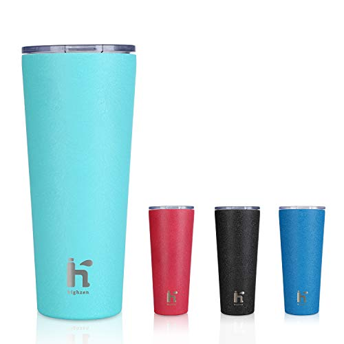 Ceramic Coated Coffee Mug Stainless Steel Tumbler with Wrap Lid 15oz 22oz Coffee Travel Mug Suitable for Hot and Cold Beverage Coffee Mug