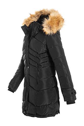 Elara Chunkyrayan - Chaqueta de invierno para mujer Black Newyork 46 ES (XX-Large)
