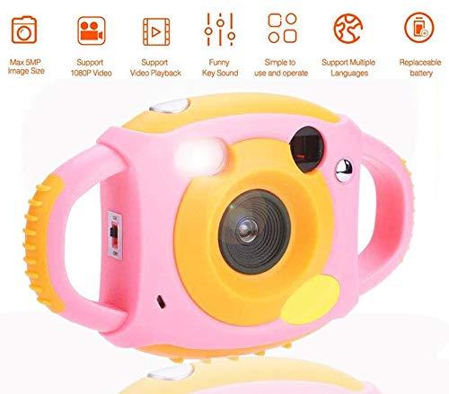 Topiky digitale kindercamera, 1,8-inch HD-videocamera met 4 filters 5 megapixel-ondersteuning 32 GB mini-SD-kaart prachtig cadeau voor kinderen