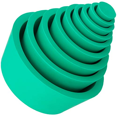 PAGOW Buchner Funnel Flask Adapter Set, Filter Adapter Cones Set, Tapered Collar Green, Lab Buchner Funnels-Wear-Resisting Smooth Surface Pack of 9