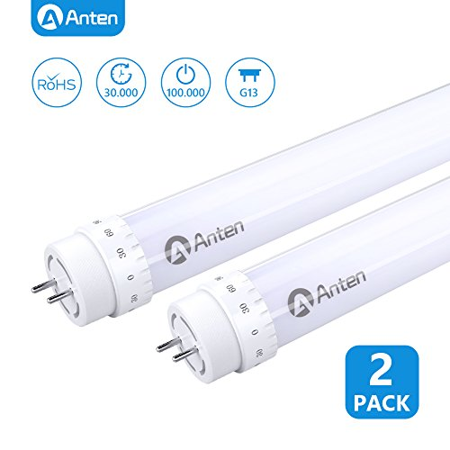 LED tube t8//g13 150 cm 30 watts Blanc chaud 3000k 3300 LM Couverture Mat starter