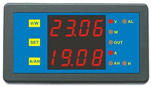 Best Price AILI DC 0-90V 0-600A Voltage Current AH Capacity Battery Tester Capacity Tester Blue Disp...