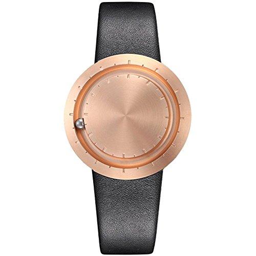 Het elegante polshorloge LAVARO ABACUS ROSEGOLD - Een bijzondere designer klok met SWISS kwarts uurwerk gemaakt in Duitsland, geborsteld gepolijste roestvrijstalen behuizing stalen bal magneet analoog 853561