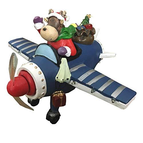 netproshop LED batterij Motion deco-verlichting kerstfiguur Kidsville rendier in vliegtuig Typ 1