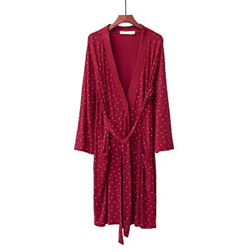 Polka Dot Dames Katoen Herfst Winter Bruid Gewaad Slaap Lounge Gewaden Kimono Badjas Dames Nachtkleding Nachtkleding Badjassen