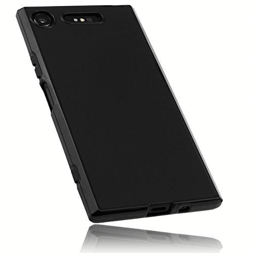mumbi Funda Compatible con Sony Xperia XZ1 Caja del teléfono móvil, Negro