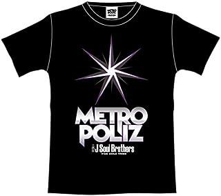 """三代目 J Soul Brothers LIVE TOUR 2016 """"METROPOLIZ"""" 公式グッズ METROPOLIZ ツアーTシャツ BLACK 黒 (Mサイズ)"""