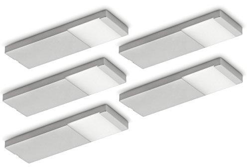 NABER Yolo Neo LED Set-5 Unterbauleuchte / Edelstahlfarbig / 3 Watt / Neutralweiß