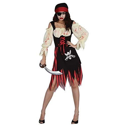 Halloween Zombie Pirate Adult Ladies Fancy Dress Costume