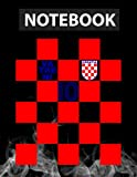 Croatia National Football Team Soccer Retro Jersey - Vatreni Notebook 8.5x11 in Journal Lined