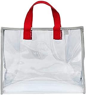TOOGOO Transparent Jelly Beach Bag Ladies Handbag Large Capacity Shoulder Bag Swimsuit Collection Bag Portable Waterproof Handbag Red