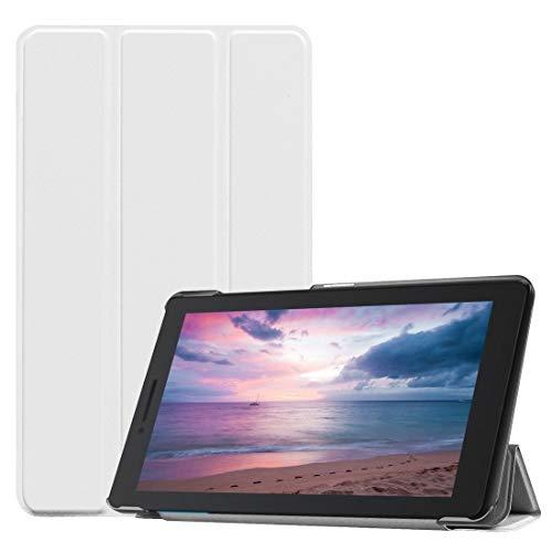 Konglz beschermhoes voor Tablet PC van leer met textuur, horizontale vervorming, op maat gemaakt voor Lenovo Tab E8 TB8304F, met drievoudige standaard, Regulable
