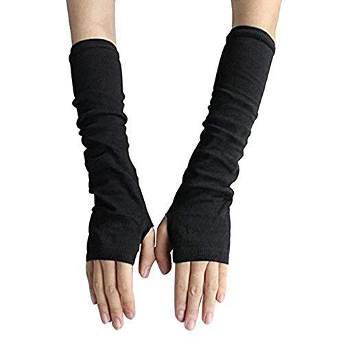 UPSTORE Fingerless Elastic Arm Sleeve Winter Warmer Protector for Ladies Women Girl Color