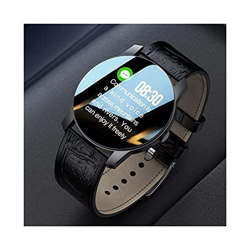 Reloj inteligente para hombre, T90S, pantalla HD, IP67, impermeable, monitor de presión arterial, monitor de frecuencia cardíaca, reloj inteligente para Android IOS (color: marrón)