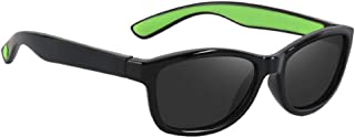AEF - Gafas De Sol para Niños, TR90 Súper Ligero Marco, Adecuado para Correr, Al Aire Libre, Andar En Bicicleta, Chico Chica,Verde