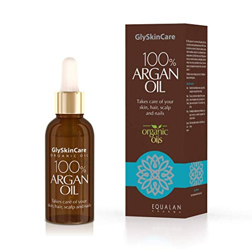 GlySkinCare Arganöl 100{267d820018baa924b2c84211f6e380bcdb2069668b4b662df0c8d618045a068f} 30 ml, Organischem Arganöl, Arganöl für Gesicht & Haut, Anti-Aging Arganöl,Arganöl Gesunde Haut & starkes Haar, Arganöl by Equalan Pharma.