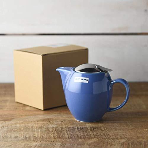 Yamani Mino-yaki Japanische Keramik-Teekanne Kyusu 350 cc mit Edelstahl-Sieb Zero Japan Serie (blau 72190081)