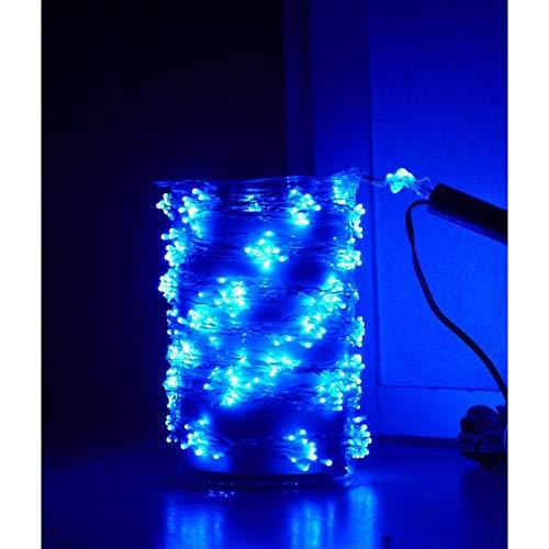Guirlande cascade intérieur 200 LED - 150 cm - Bleu