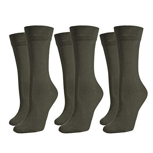 Safersox 3er Pack Classic Mückenschutz-Socken - Olivgrün, 43-46