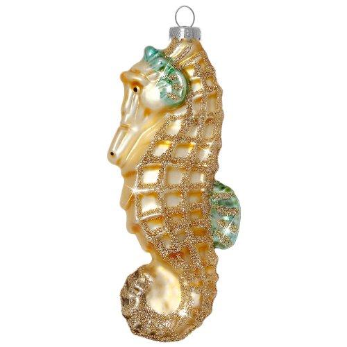SIKORA Christbaumschmuck Glas Ornament / SEEPFERDCHEN - H:11cm