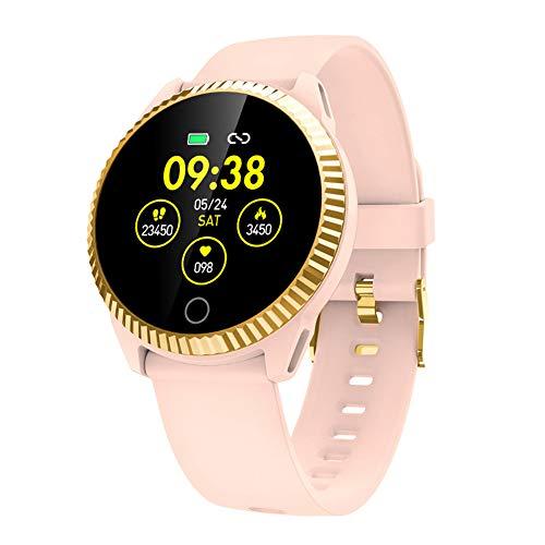 IP68 Waterdichte Activiteit Tracker Smart Horloge met Hartslagmeter, Fitness Tracker Stappenteller Stop Watch-Roze