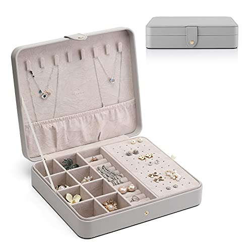 Vlando ジュエリーボックス アクセサリーケース 収納ケース 宝石箱 ミラー 鏡付き おしゃれ 人気 女の子 ネックレス ピアス イヤリング リング 指輪 レザー