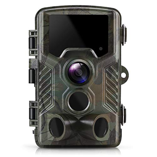 Wildlife Camera ZIMOCE 21MP 1080P Trail Camera Night Vision Motion IP66 Waterproof with 120° Wide Angle Lens for Wildlife Monitoring, Garden, Home Security Surveillance (Upgrade)