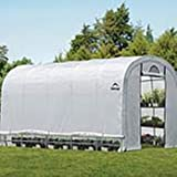 ShelterLogic Gewächshaus, Foliengewächshaus, Tomatenhaus // 610x370x250cm (LxBxH) // 22,57m² // Folienhaus & Folienzelt